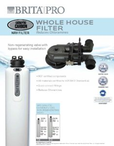 brochure for Brita Pro whole house water filtration system